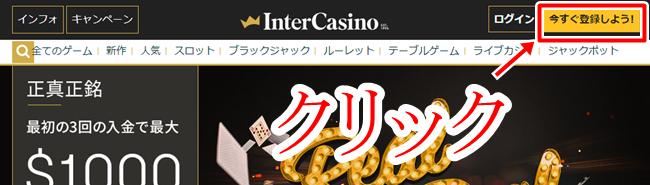 インターカジノ登録画面2