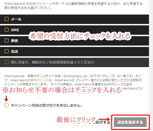 インターカジノ登録画面5